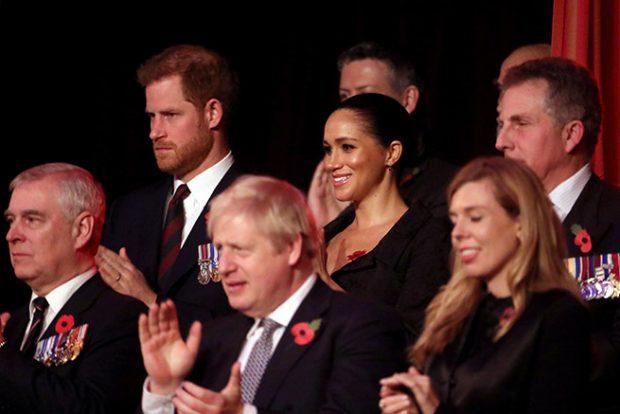 El príncipe Andrés, Meghan Markle y el príncipe Harry