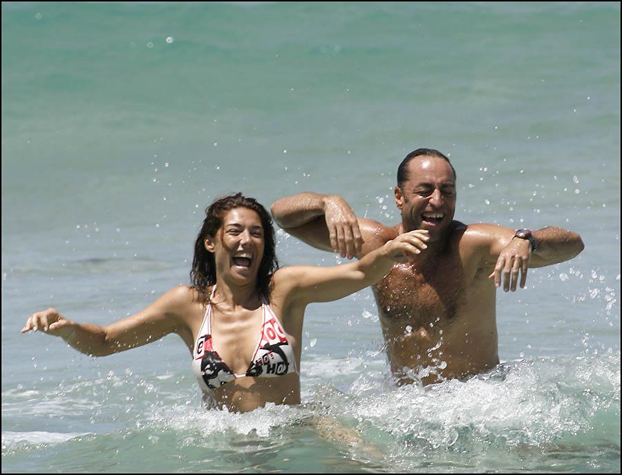 Raquel Revuelta y Miguel Ángel Jiménez en una imagen de archivo / GTRES