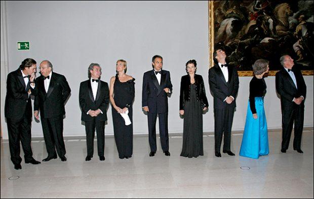 reyes Felipe y Letizia, reyes Juan Carlos y Sofía, Plácido Arango