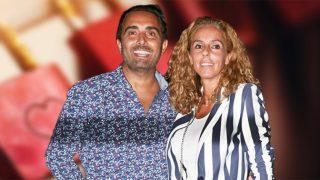 Rocío Carrasco y Fidel Albiac en un fotomontaje de Look
