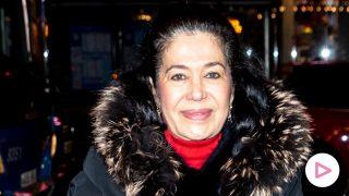 La madre de Elena Tablada en las calles de Madrid / Gtres