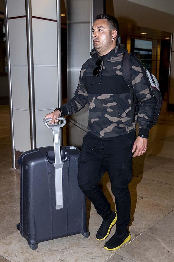 Miguel Marcos llegando a Madrid tras unas vacaciones / GTRES