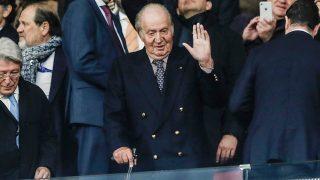 El rey Juan Carlos ha visto el último partido del Atlético de Madrid / Gtres