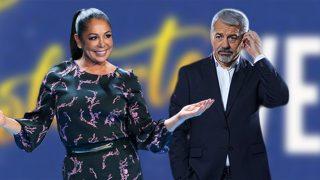 Isabel Pantoja y Carlos Sobera en un fotomontaje de Look / Gtres