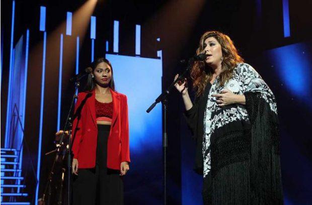 Estrella Morente en su actuación en 'Operación