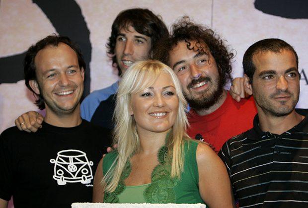 Amaia Montero junto a la banda 'La oreja de Van Gogh' en una imagen de archivo/Gtres