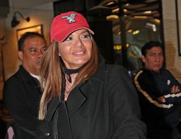 Ivonne Reyes tras salir de una entrevista. Imagen de archivo / GTres