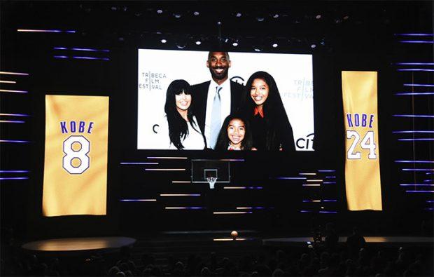 Una foto de la familia Bryant en el úlitmo adiós a la leyenda de la NBA, Kobe Bryant / GTres