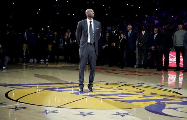 Kobe Bryant en el Staples Center de los Ángeles Lakers en 2018 / GTres