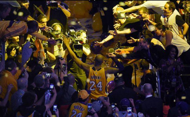 Kobe Bryant en la ceremonia de su último partido de la NBA en abril de 2016. Imagen de archivo / GTres