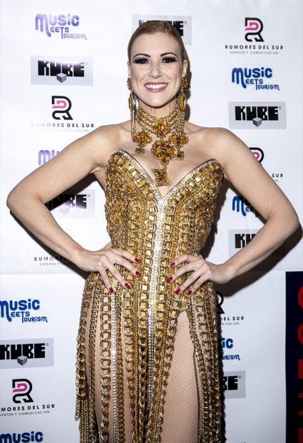 La modelo y actriz, María Jesús Ruiz, en la presentación de su single 'Mi Fuego' en Madrid en diciembre de 2019 / GTres