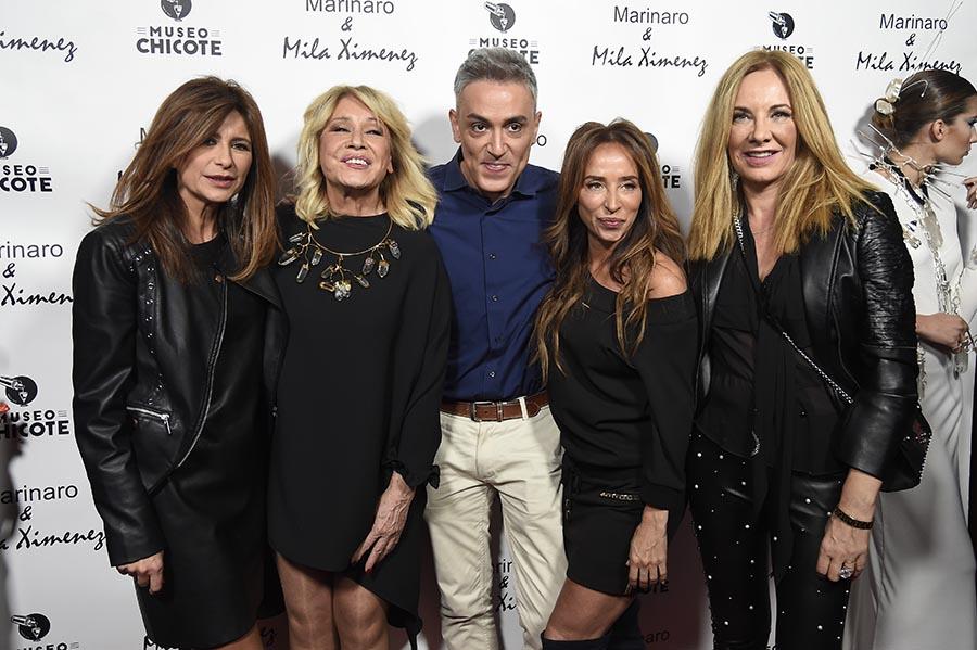 Belén Rodríguez junto a Mila Ximénez y el resto de sus compañeros de 'Sálvame' / GTRES