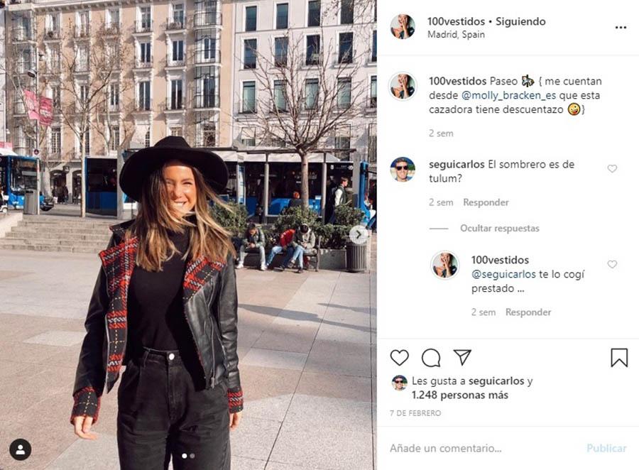 La complicidad entre Carlos Seguí y Nuria en Instagram es más que evidente / @100vestidos