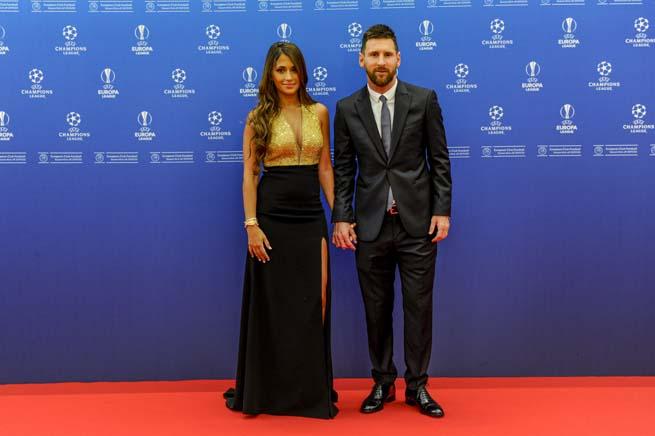Antonela Roccuzzo y Leo Messi