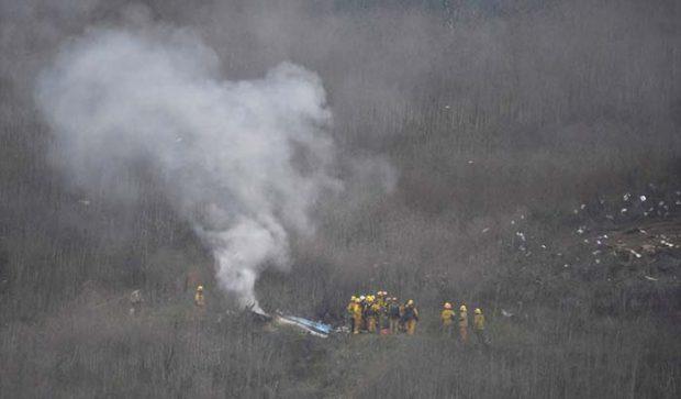 Accidente del helicóptero en el que volaban Kobe Bryant y su hija Gianna con siete personas más a bordo / GTres