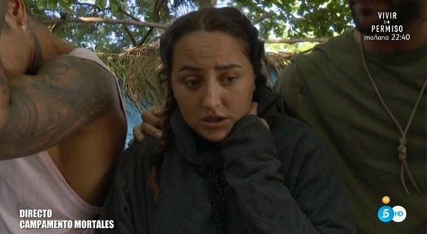 Rocío Flores preocupada por el temporal de la isla / Telecinco