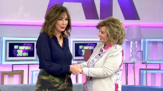 María Teresa Campos y Ana Rosa Quintana en 'El Programa de Ana Rosa'/Mediaset