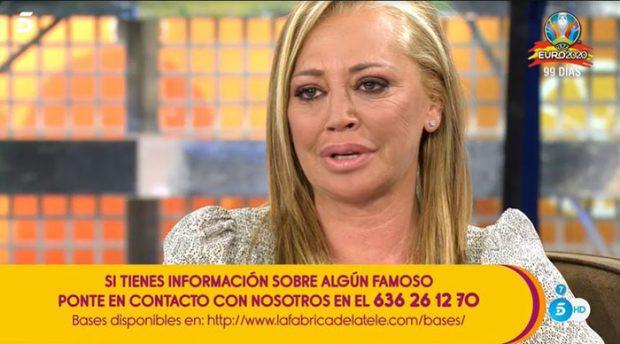 Belén Esteban emocionada en 'Sálvame'/Telecinco
