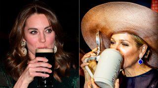 Kate Middleton y Máxima de Holanda disfrutando de una cerveza / Gtres