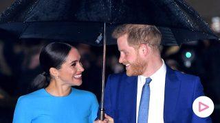 Meghan y Harry a su llegada a la entrega de premios / Gtres