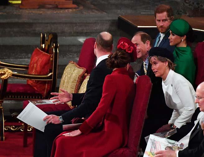 Los duques de Sussex, los duques de Cambride y los conde de Wessex durante la ceremonia del día de Commonwealth, 2020./ GTRES