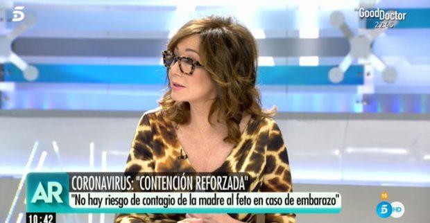 Ana Rosa Quintana durante el programa / Imagen de Telecinco