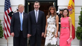 Donald Trump recibió a los Reyes en su primera visita oficial en junio de 2018/Gtres