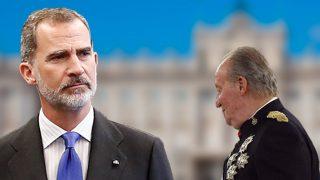 El rey Juan Carlos y el rey Felipe en un fotomontaje de Look / Gtres
