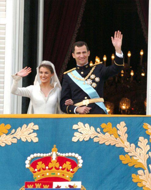 Boda de Felipe VI y doña Letizia en 2004. Imagen de archivo / GTRES