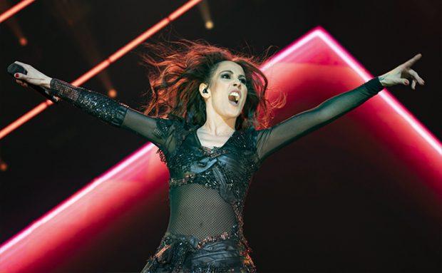 Malú durante un concierto en Madrid / GTRES