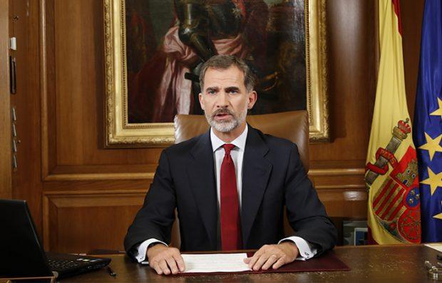 Discurso del Rey el 3 de octubre de 2017 por el referéndum ilegal del Gobierno catalán / GTRES