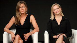 Jennifer Aniston y Reese Witherspoon en la presentación de 'The Morning Show'. / Gtres