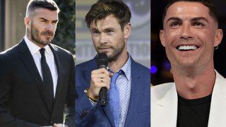 David Beckham, Chris Hemsworth y Cristiano Ronaldo. Tres padres estilosos y entregados / Gtres