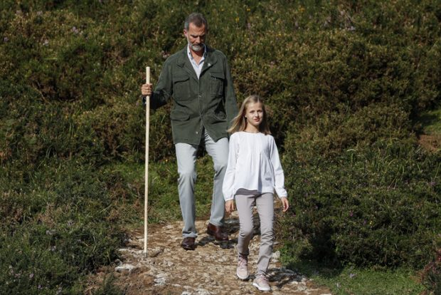 El rey Felipe VI princesa Leonor en el Parque de Covadonga/Gtres