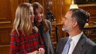 Rey Felipe VI y sus hijas