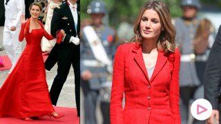 Doña Letizia, la mujer de rojo que conquista a la realeza/Gtres