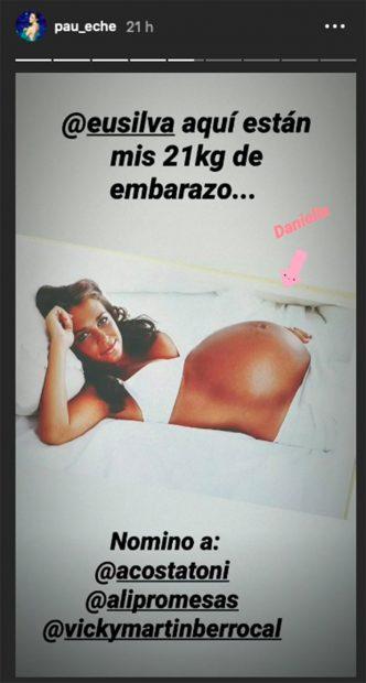 Instagram de Paula Echevarría mostrado sus embarazo/Instagram