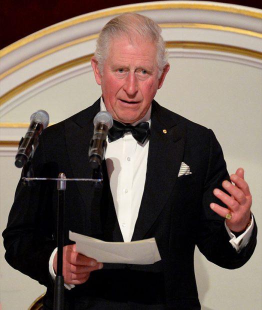 El príncipe Carlos en una de sus últimas apariciones en público antes de confinarse / GTRES