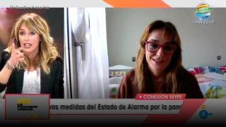 Toñi Moreno ha intervenido en el que fuera su programa para contar cómo está viviendo la cuarentena/Gtres