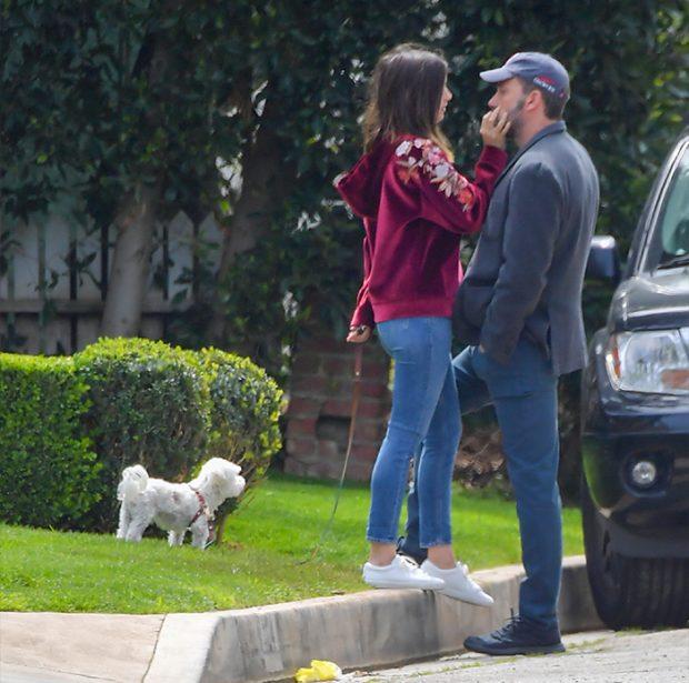 La pareja de Hollywood solo sale ahora a pasear al perro de Ana de Armas, a causa del confinamiento por el coronavirus / GTRES