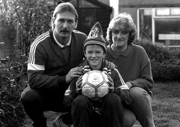 Ted Beckham, Sandra West y David Beckham