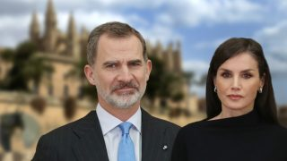 El rey Felipe y la reina Letizia en un fotomontaje de Look / Gtres