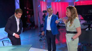 Este lunes Marta López y Alfonso Merlos se han visto las caras en directo / Telecinco