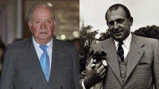 El rey Juan Carlo y su padre, don Juan de Borbón, en un fotomontaje de Look / Gtres