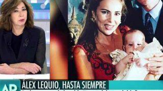 Ana Rosa Quintana no ha podido evitar las lágrimas al despedirse de Álex Lequio / Mediaset