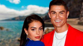 Cristiano Ronaldo y Georgina Rodríguez en un fotomontaje de Look / Gtres