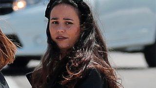Carolina Monje, en una imagen de archivo durante el entierro de su novio, Álex Lequio/ Gtres