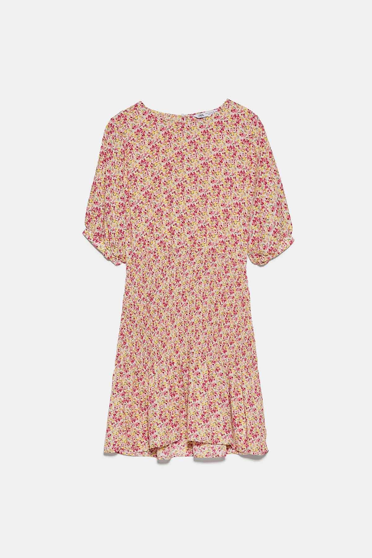 Vestido corto estampado flores de Zara / Zara