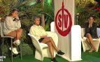Ana María Aldón, Rocío Flores y Gloria Camila durante la penúltima gala de 'Supervivientes' / Mediaset