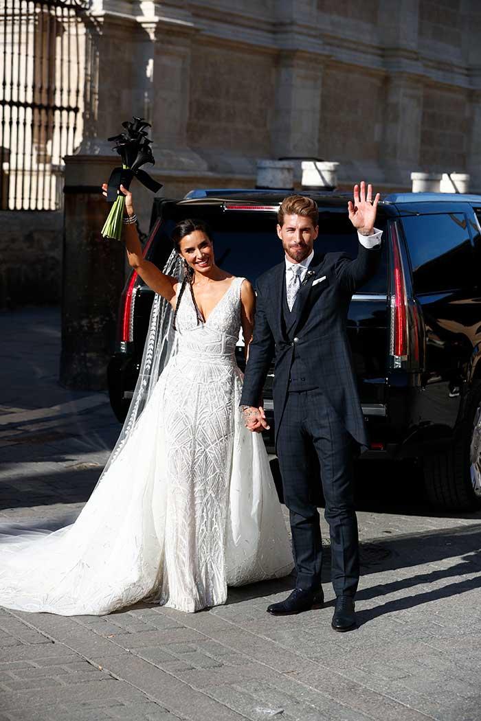Primera imagen de Sergio Ramos y Pilar Rubio como marido y mujer